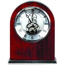 T501 Rosewood/Silver Piano Finish Clock
